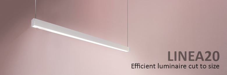 LINEA20 efficient luminaire cut to size