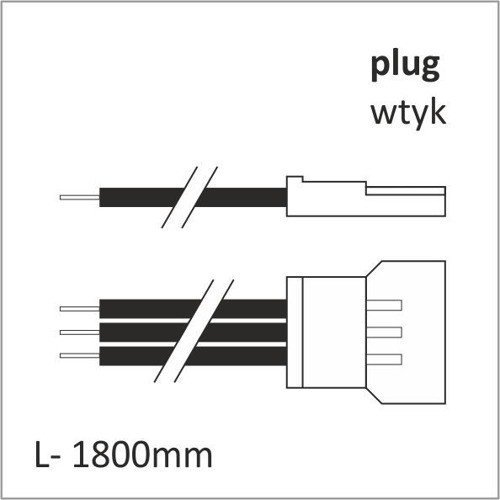 COLD WARM LED CABLE 1800 mm